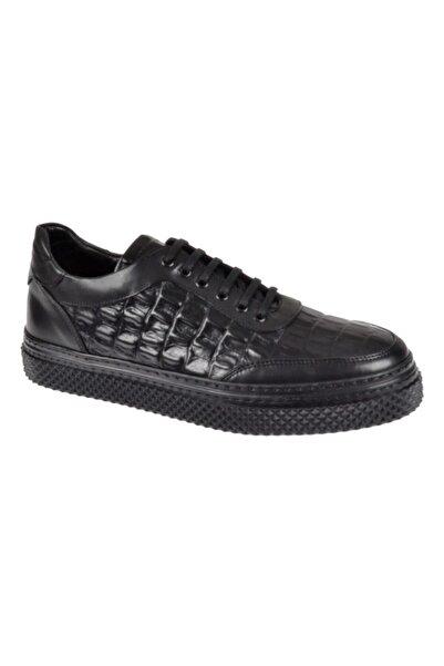 Friendly Hakiki Deri Günlük Erkek Ayakkabı Ts-4005 Siyah