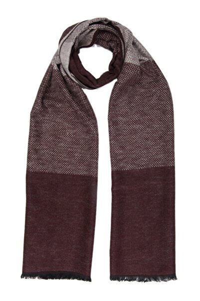 Silk and Cashmere Ipek Karışımlı Lotus Renk Bloklu Kaşkol