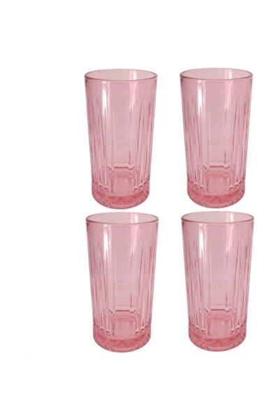 Paşabahçe Elysıa Pembe Meşrubat Bardağı 4'lü 450cc, Uzun Büyük Boy 520015