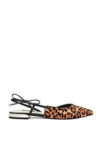 Rosap5 Leopar Kadın Sandalet