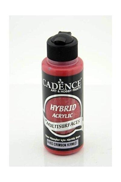 Cadence Hybrid Multisurface Akrilik Boya 120 ml. H-053 Crimson Kırmızı