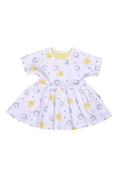 kitikate Kiti Kate Dreams Yellow Kısa Kol Empirme Elbise Beyaz 62 S62687-04