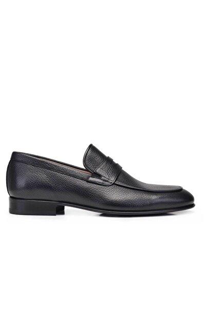 Nevzat Onay Hakiki Deri Siyah Klasik Loafer Kösele Erkek Ayakkabı -11740-