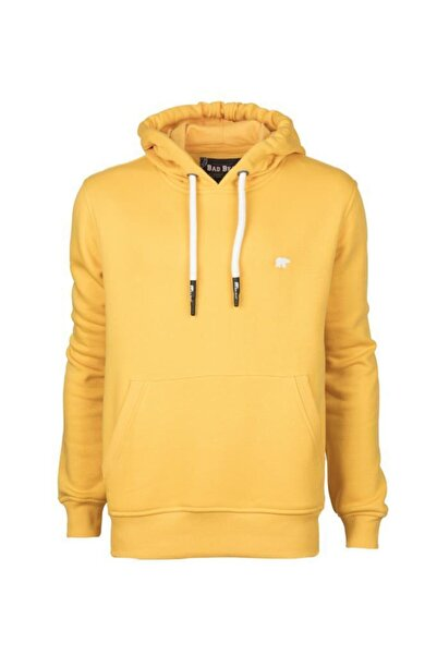 Bad Bear Erkek Sweatshirt Hardal Sımple Hoodıe 20.02.12.019