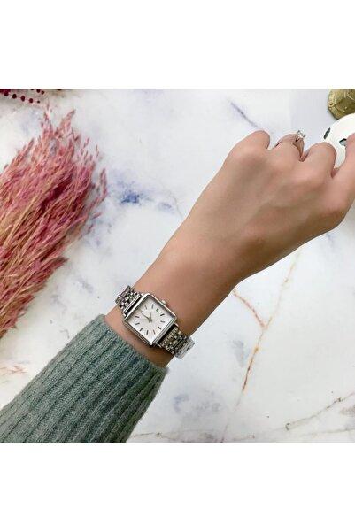 OQQO Silver Minimal Kadın Saat