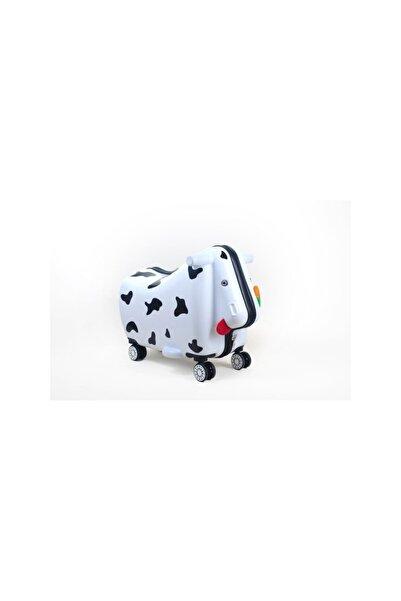 OXKIDS Ox Moo Çocuk Valizi - Beyaz