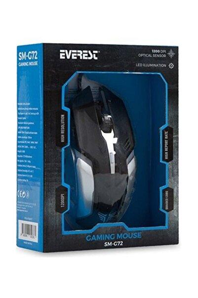 Everest Sm-g72 Usb Siyah/gümüş Işıklandırmalı Optik Oyuncu Mouse