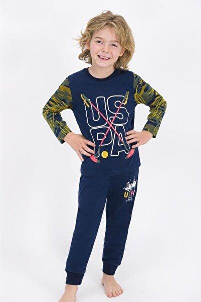 U.S. Polo Assn. Erkek Çocuk Lacivert Pijama Takımı