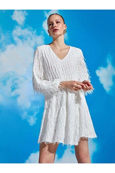 Nocturne Saçaklı Mini Elbise
