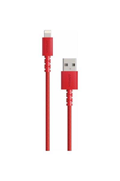 Anker Powerline Select+ Apple Lightning 0.9m Naylon Usb Kablo - Kırmızı - Mfı Lisanslı