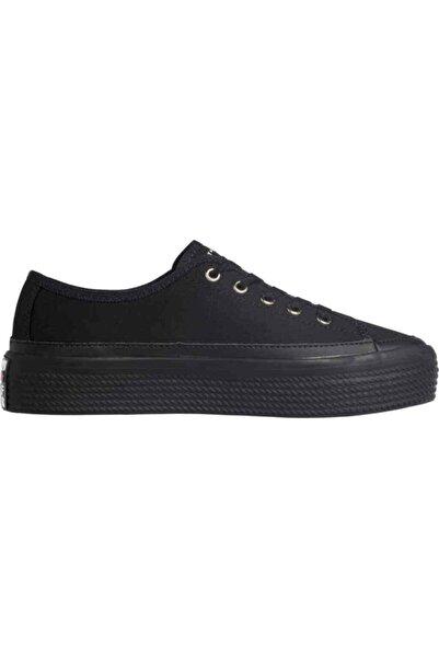 Tommy Hilfiger Kadın Siyah Sneaker Corporate Flatform Sneaker FW0FW02456