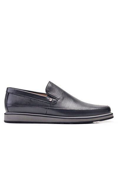 Nevzat Onay Hakiki Deri Siyah Günlük Loafer Erkek Ayakkabı -11907-