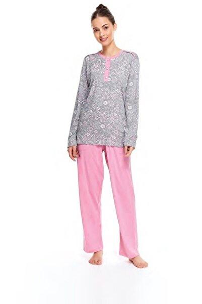 Çift Kaplan 7547 Kadın Patlı Pijama Takım
