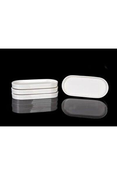 Bone Porselen 20x13 Cm 6'lı Oval Kayık Tabak 10345