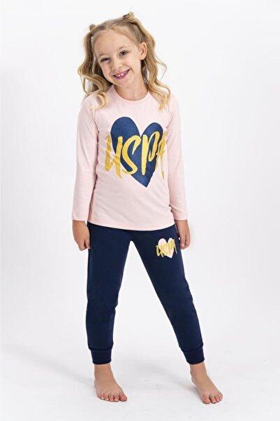 U.S. Polo Assn. Kız Çocuk Pembe Pijama Takımı