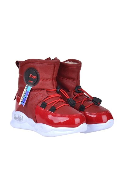 Twingo 7580 Kırmızı Termal Kürklü Kız Çocuk Kışlık Bot Ayakkabı