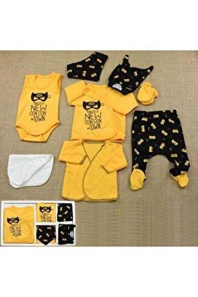 Concon Baby Hastane Çıkış Seti Batman Desenli Erkek Bebek 8'li Yeni Doğan