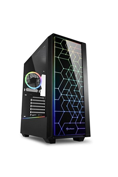 SHARKOON Rgb-lıt-100 Midi Tower Kasa Siyah