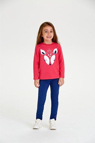 Wonder Kıds Wonder Kids Kız Çocuk Vişne Renk Uzun Kollu Sweatshirt Wk20aw4012-kf