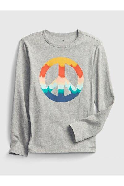 GAP Erkek Çocuk Uzun Kollu Grafik T-Shirt