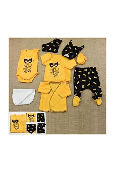 Donino Baby Concon Baby Hastane Çıkış Seti Batman Desenli Erkek Bebek 8'li Yeni Doğan