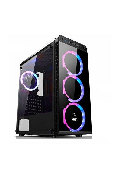 GAMETECH Gt-001 4x120mm Rainbow Fanlı Gaming Oyuncu Bilgisayar Kasası Psu Yok