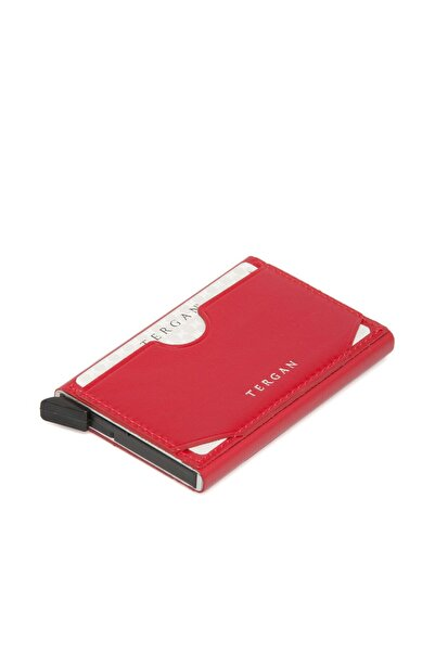 Tergan Hakiki Deri Kırmızı Unisex Kredi Kartlık S1kk00000260