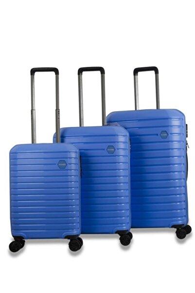 Fossil 1137 Pp Kırılmaz Valiz 3'lü Set Fsy1137 Mavi