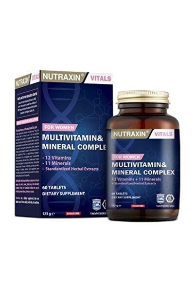 Nutraxin Multivitamin Mineral Complex 60 Tablet Kadınlara Özel