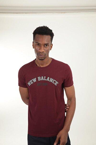 New Balance Bordo Erkek T-shirt Mpt025-bkr