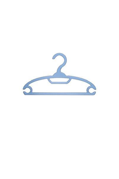 Gondol Çocuk Kıyafet Askısı Bebek Kıyafet Askısı 12 Adet Mavi