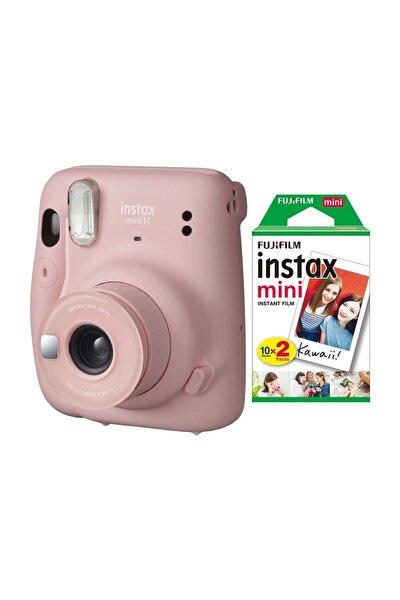 Fujifilm Instax Mini 11 Pembe Fotoğraf Makinesi 20li Film
