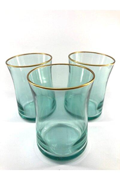 Rakle Neo Yeşil Renkli Kısa Meşrubat Bardağı 3'lü