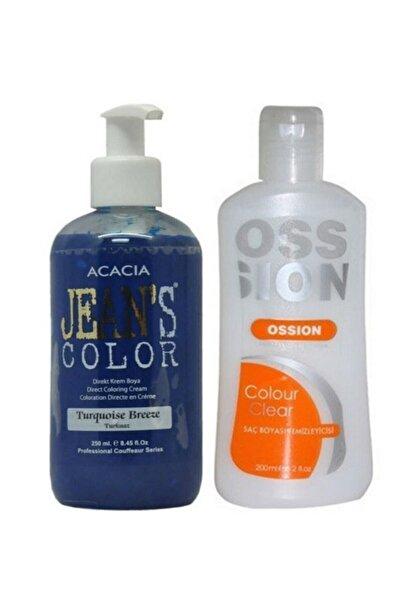 Acacia Jeans Color Saç Boyası Turkuaz 250ml Ve Ossion Saç Boya Temizleyicisi 200ml