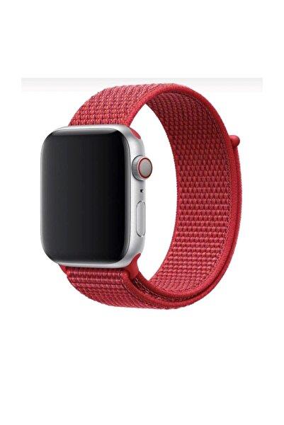 Mahzen Apple Watch 1-2-3-4-5 Serisi 42mm - 44mm Uyumlu Spor Loop Kordon