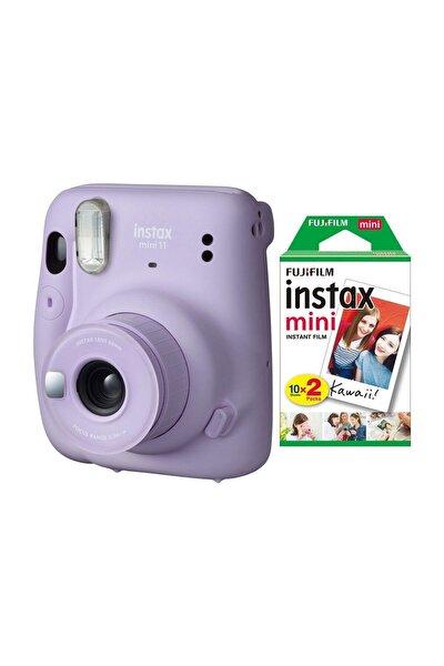 Fujifilm Instax Mini 11 Lila Fotoğraf Makinesi 20li Film