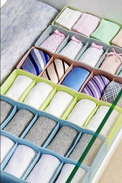 Meleni Home 4 Adet 5 Gözlü Çekmece Içi Çorap Düzenleyici