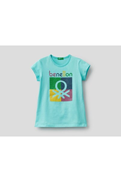 United Colors of Benetton Kız Çocuk Yazılı Tshirt