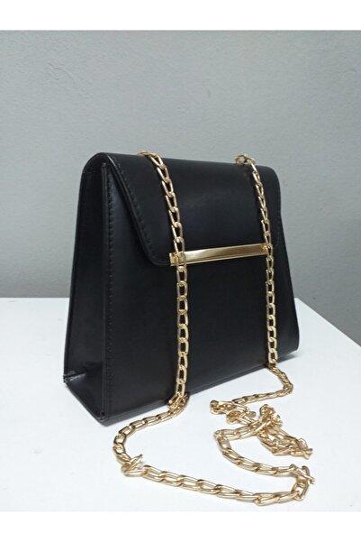 dizaynbag Kadın Siyah Zincir Askılı Çanta