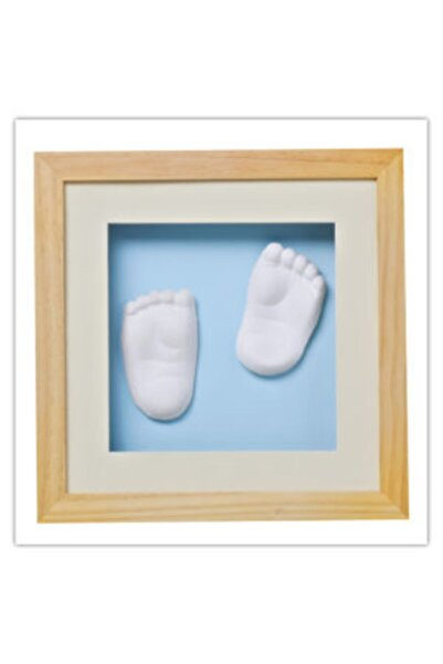 Baby Memory Prints Prints El Ve Ayak İzi 3d Çerçeve Naturel