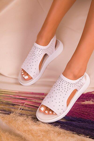 SOHO Beyaz Kadın Sandalet 16135