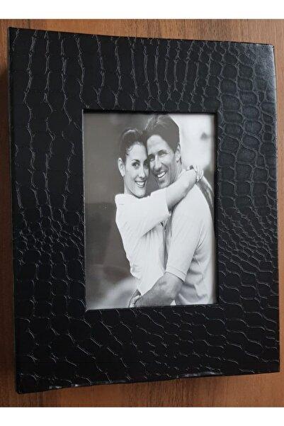 Vural Foto Baskı 100lü 10x15cm Fotoğraf Albümü Siyah - Deri Kaplı Foto Pencereli - Aile Resimleri Için Album