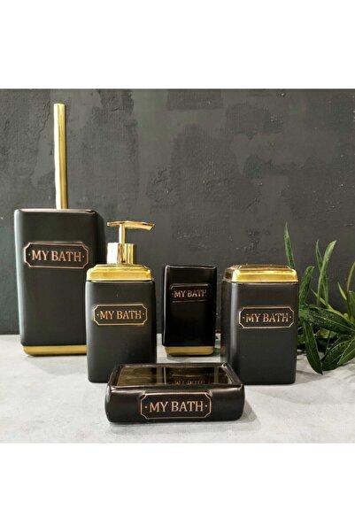 AROW Bathy 5 Parça Porselen Banyo Seti