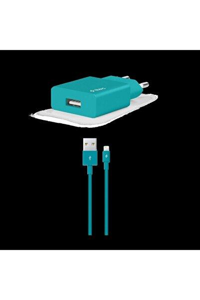 Ttec Smartcharger Seyahat Şarj Aleti 2.1a + Lightning Kablo Turkuaz