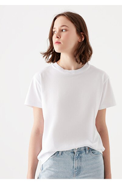 Mavi Beyaz Basic Tişört 1600955-620