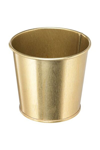 IKEA Gold Renk Saksı Bitki Çiçek Saksısı 9 Cm Meridyendukkan Çelik