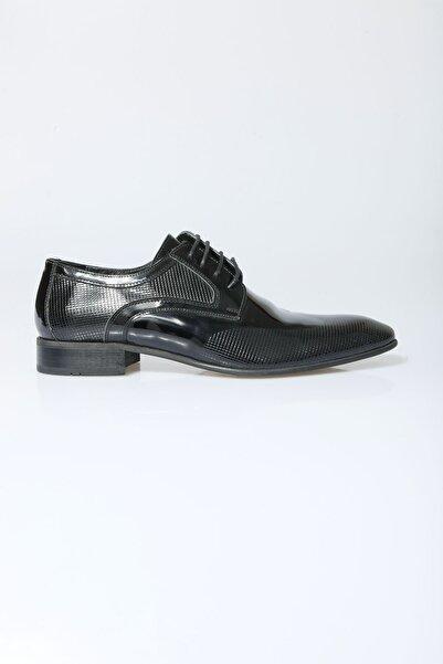 Centone Erkek Siyah Smokin Hakiki Deri Ayakkabı 18-5048