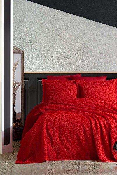 Elart Yatak Örtüsü 3 Boyutlu Cıty Kırmızı Çift Kişilik