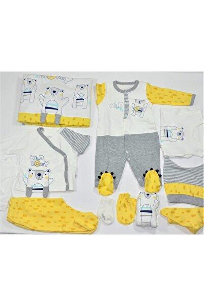 İmaj Erkek Bebek Sarı Ayıcıklı Tulum