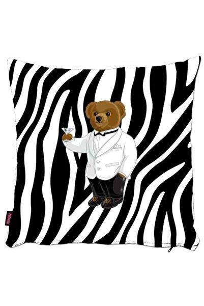 phgifts Teddy Bear Ayı Desenli Kırlent Yastık Kılıfı